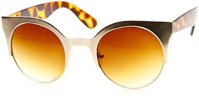 Cute Tortoise Shell Vintage Cat Eye Sunglasses for Women