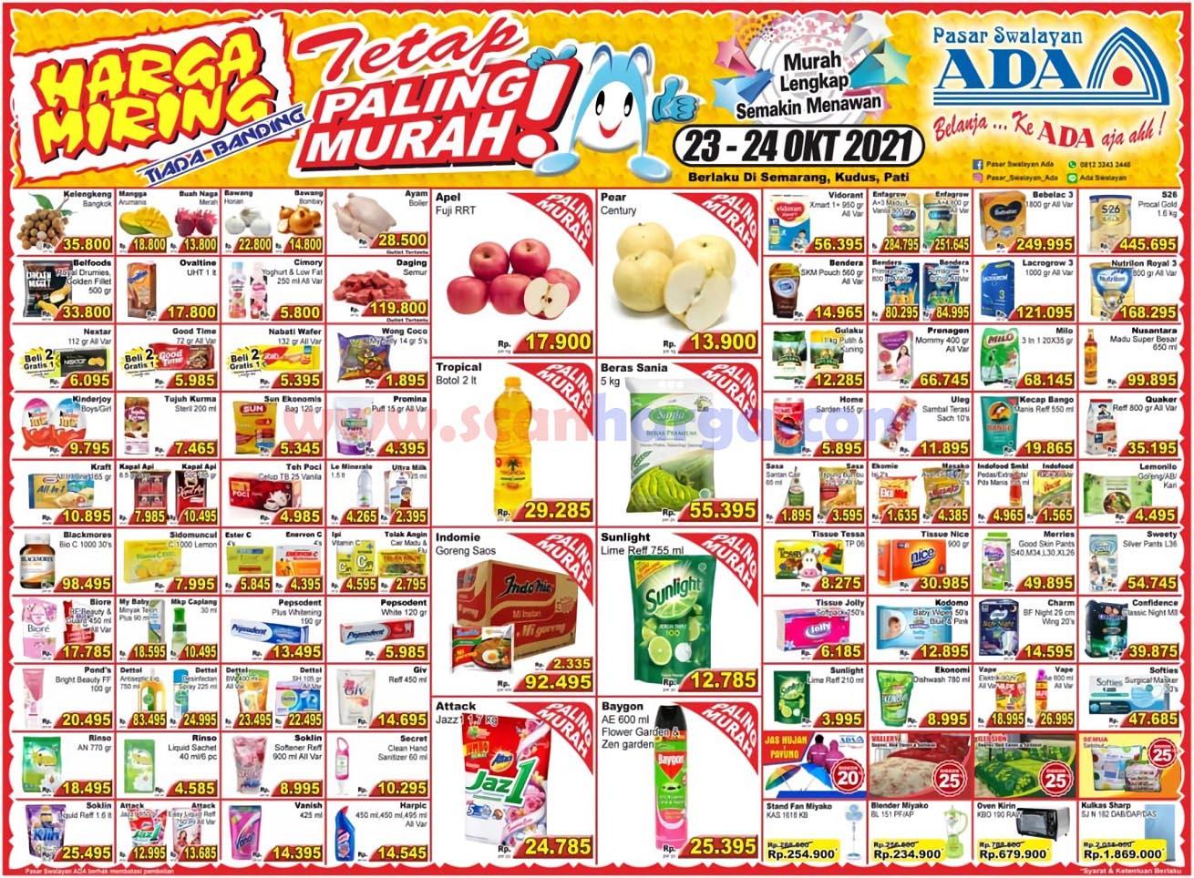 Katalog Promo ADA Swalayan Terbaru 23 - 24 Oktober 2021