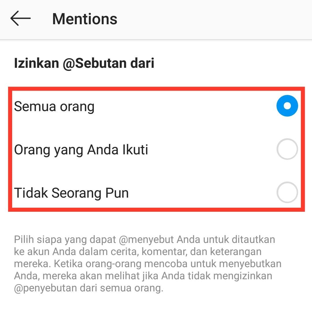 Tips Cara Agar tidak Bisa dimention di Instagram