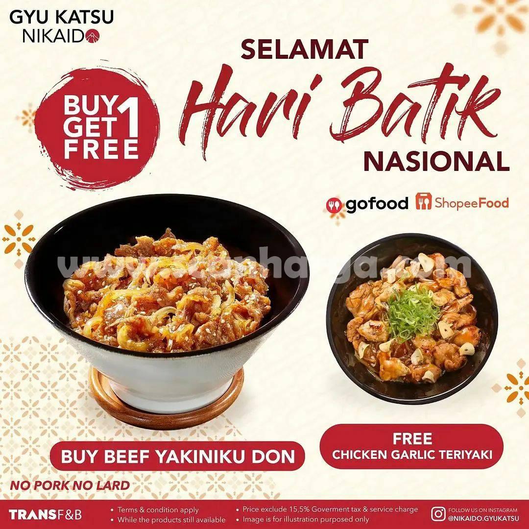 Promo Gyu Katsu Nikaido Hari Batik Nasional - Beli 1 Gratis 1