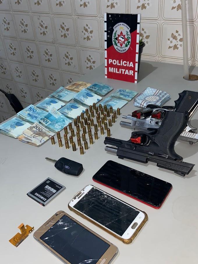 POLÍCIA MILITAR PRENDE EM FLAGRANTE DOIS INDIVÍDUOS APÓS ROUBO NA CIDADE DE POMBAL