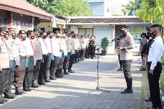 Jam Pimpinan, Kapolres AKBP Kadarislam Pimpin Apel Pagi
