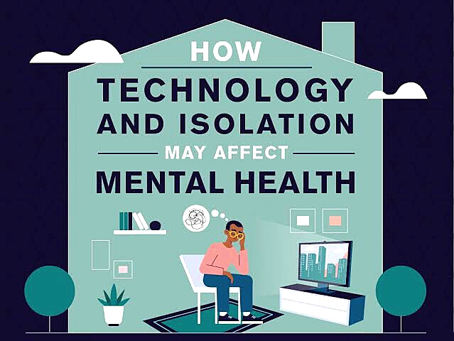 How does technology lead to social isolation