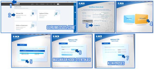 Aktivasi PIN Kartu Kredit BCA Melalui Website