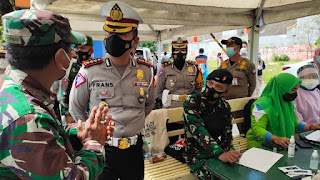 PPKM Level 4 Kota Makassar, Ditlantas Polda Sulsel Turun Langsung Cek Posko penegakan Prokes
