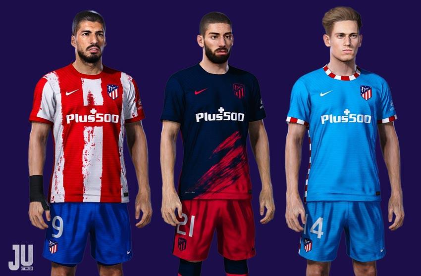 Atletico Madrid Kit Season 2021-2022 For eFootball PES 2021