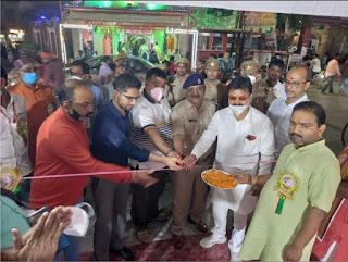 श्री दुर्गा पूजा महासमिति के 42वें नियंत्रण कक्ष का हुआ उद्घाटन  | #NayaSaberaNetwork
