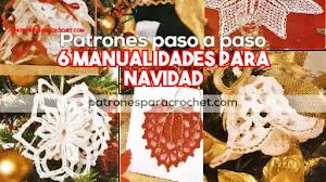 6 Manualidades Crochet para Navidad | Patrones explicados