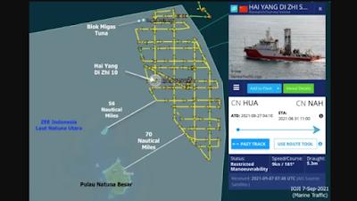 Kapal Survei China Leluasa Mondar-mandir di Natuna, Diduga Incar Cadangan Minyak Gas RI