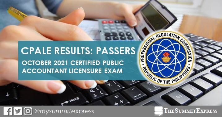 FULL RESULTS: October 2021 CPA board exam list of passers, top 10
