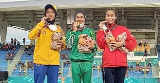Agustina Damanik Sumbang Emas Lari 1.500 M Putri untuk Sumut di PON Papua