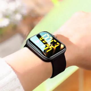 ساعه رابر تاتش اسود + D18 Smart Watch