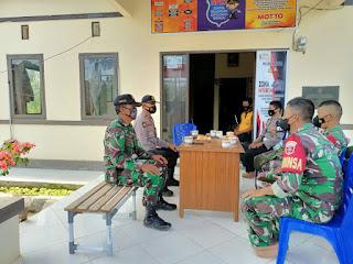 Jalin Hubungan yang Baik dengan TNI, Personel Polsek Malua Coffee Morning di Mapolsek Malua