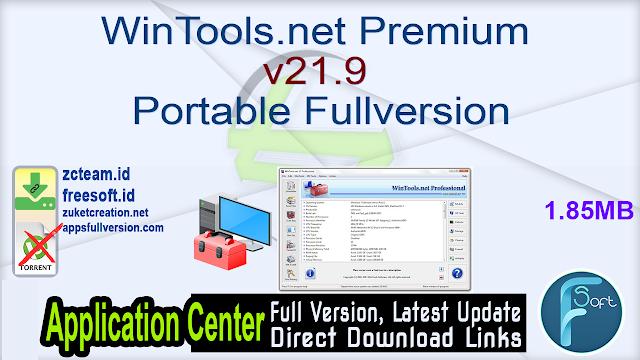 WinTools.net Premium v21.9 Portable Fullversion