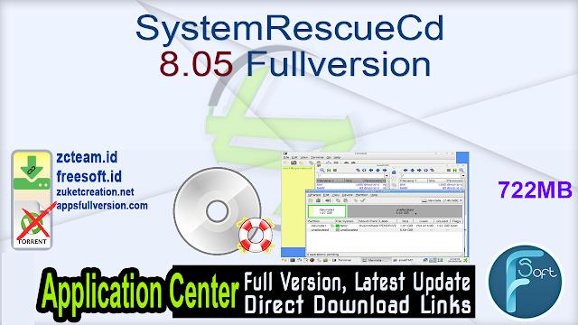 SystemRescueCd 8.05 Fullversion