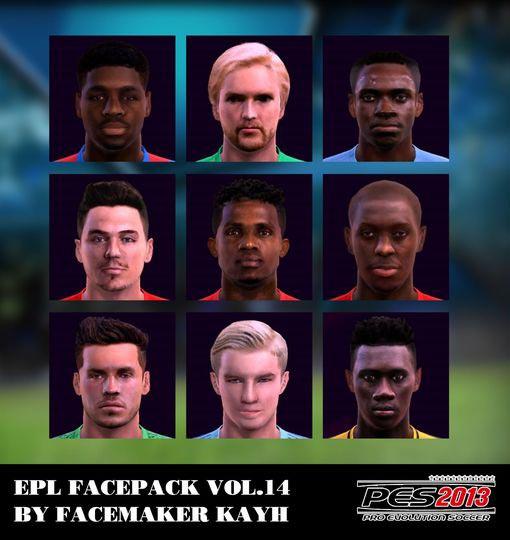 Premier League Facepack Vol.14 For PES 2013
