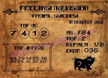 Prediksi Nagasaon Togel Sidney Sabtu 16-Okt-2021