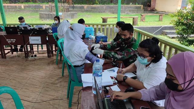 Serbuan Vaksin HUT ke- 76 TNI Hari ke 2 di Tulehu Lampaui Target .lelemuku.com.jpg