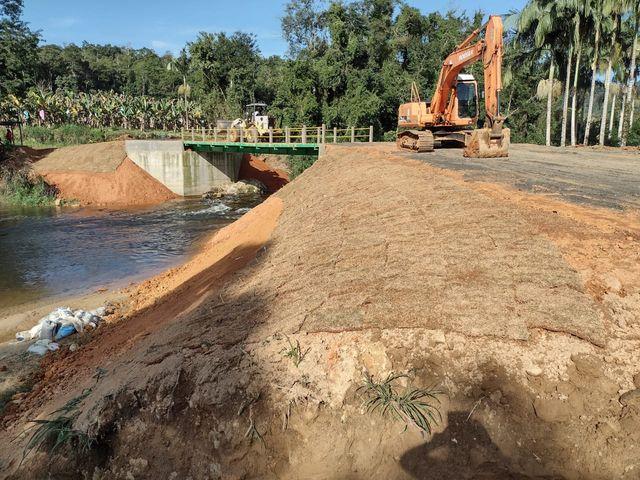 Coordenadoria Estadual de proteção e Defesa Civil inaugura obra em Jacupiranga