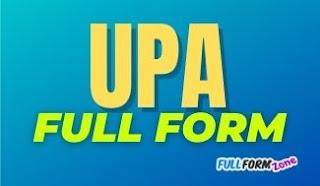 UPA Full Form