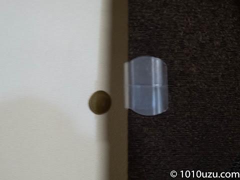 遮光1級のカーテンが重くカーテンクリップのマグネットでは離れてしまう