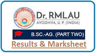 RMLAU B.Sc Agri Part 2 Result 2021