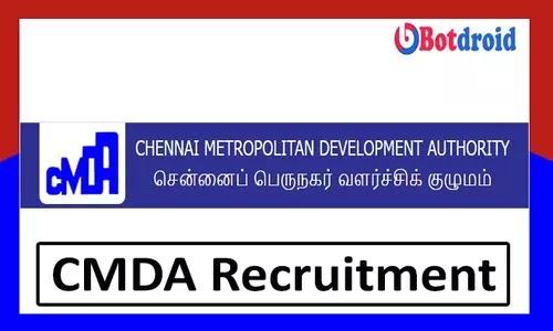 CMDA Chennai Recruitment 2021, Apply Online for CMDA jobs 2021