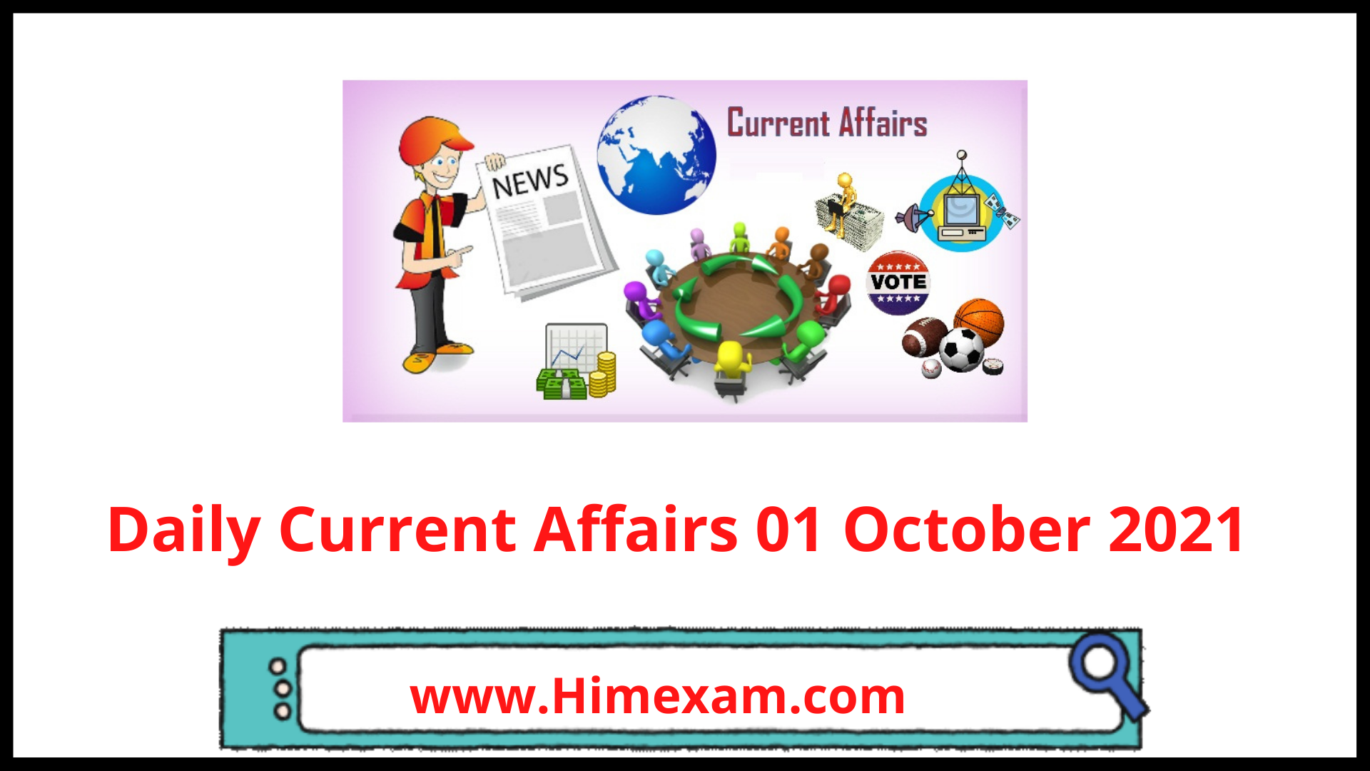 Daily Current Affairs 01 October 2021