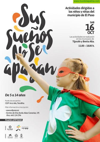 El Ayuntamiento de El Paso comunica la puesta en marcha de actividades de ocio para niños y niñas de la localidad