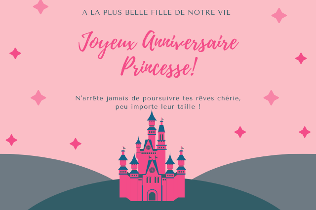 Joyeux anniversaire princesse: Merveilleux Textes