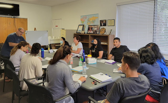 Jon Marcus teaching an ESOL class at Learn To Read in St. Augustine Florida