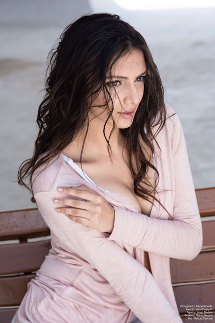 Bollywood Model Lekha Prajapati Latest Hot Photoshoot Pics Navel Queens