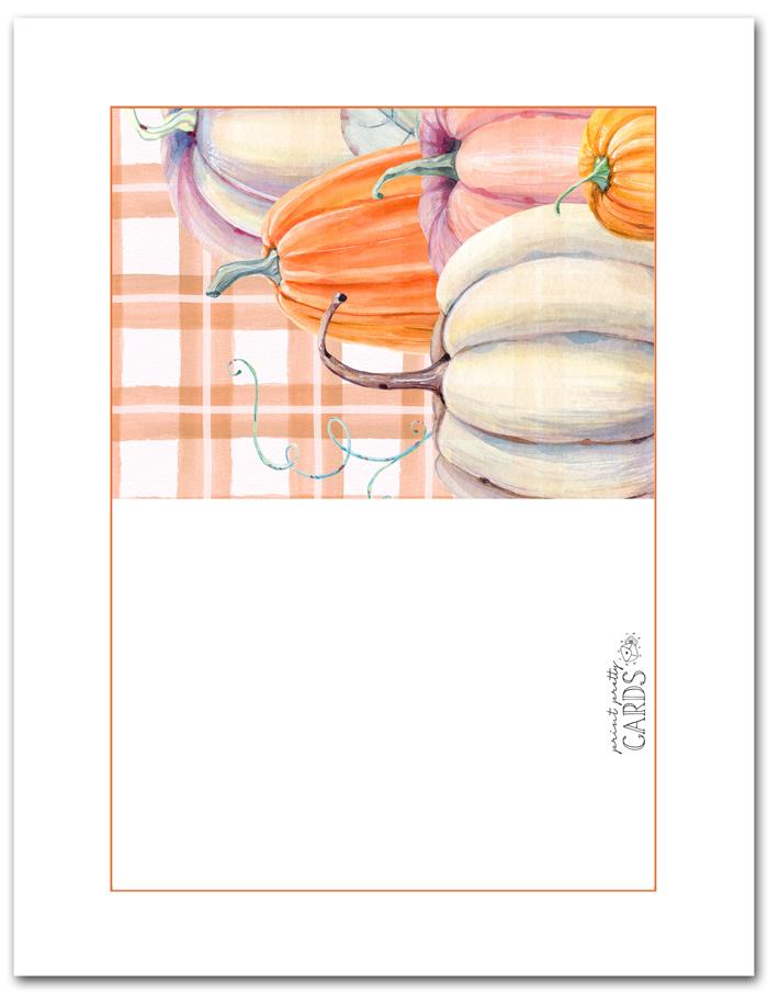 Free Printable Pumpkin Card