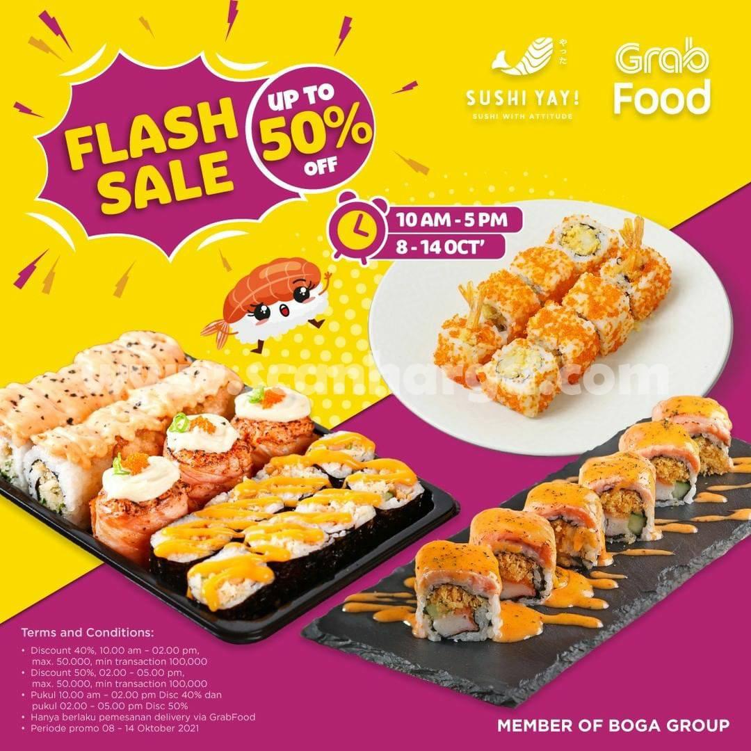 Promo SUSHI YAY! Flash Sale Grabfood Diskon hingga 50%