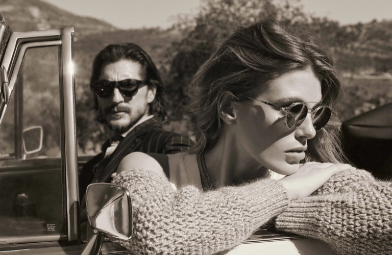 Brunello Cucinelli x Oliver Peoples eyewear campaign.