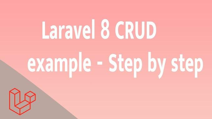 Laravel 8 CRUD example - Step by step