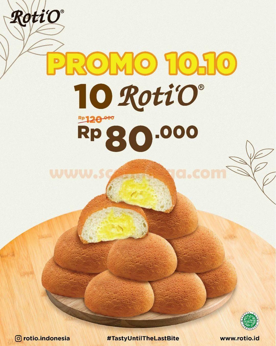 Promo Roti O Spesial 10.10 Beli 10 Roti'O Cuma Rp. 80.000