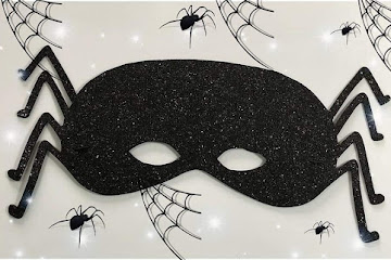 Molde máscara aranha de EVA grátis para imprimir