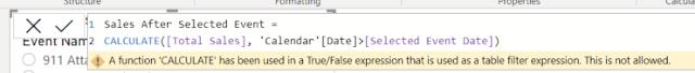screenshot wrong DAX formula
