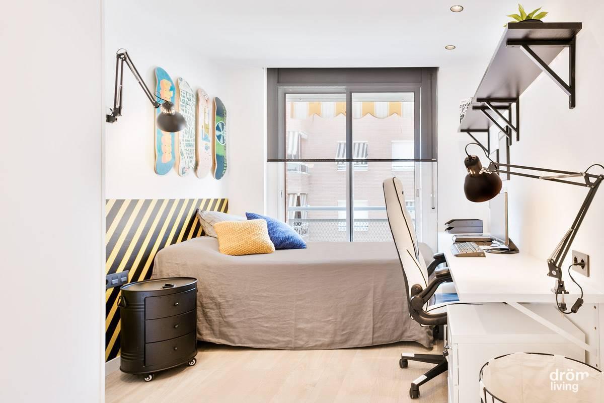 Dormitorio juvenil después de la reforma