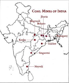 Location of Coal Mines (India)