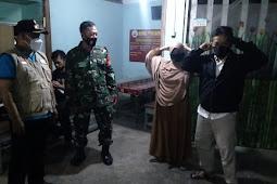 Wujudkan Wilayah Aman Kondusif Babinsa Wonosari Patroli dan Monitoring PPKM level 2