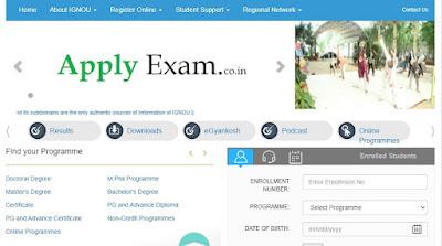 IGNOU Online Examination Form 2021