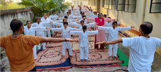 कस्तूरबा गांधी बालिका विद्यालय बक्सा में 5 दिवसीय योग प्रशिक्षण शिविर आयोजित    #NayaSaberaNetwork