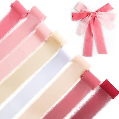 Pink Soft Chiffon Ribbons