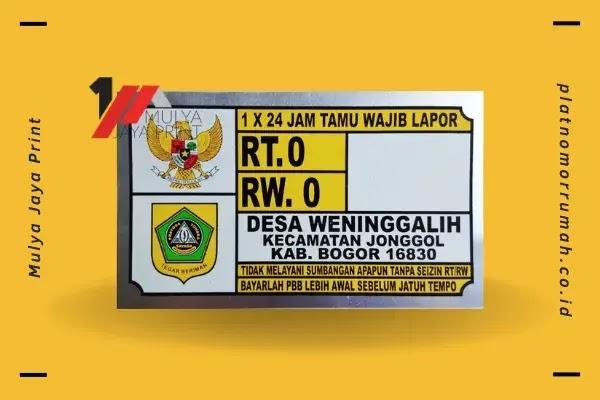 Bikin Plat Nomor Rumah di Bogor