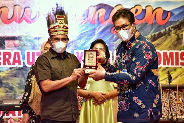 Gubernur Edy Rahmayadi Bertemu dengan Masyarakat Sumut di Papua