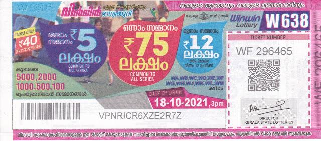 Kerala Daily Lottery Win Win W Every Monday