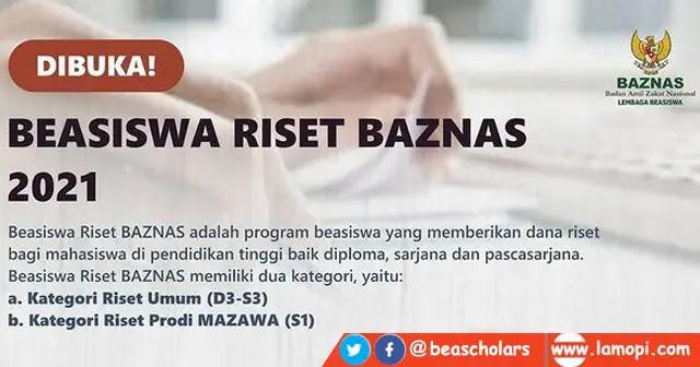 Beasiswa Riset Baznas 2021