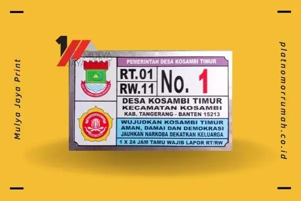 Desain Plat Nomor Rumah Desa Kosambi Timur (Kec. Kosambi)